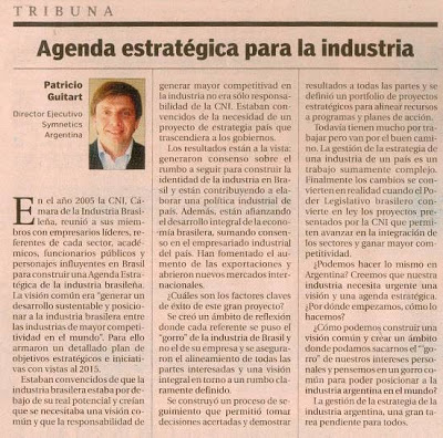 Cronista – Agenda Estratégica para la Industria Argentina